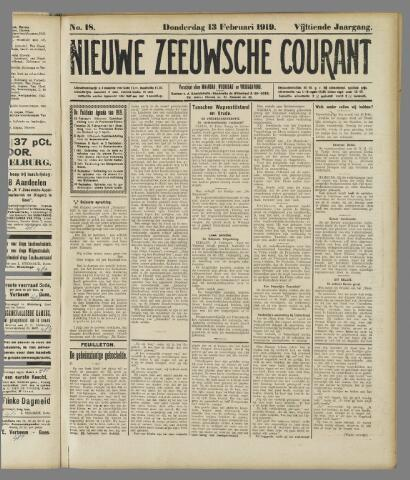Nieuwe Zeeuwsche Courant 1919-02-13
