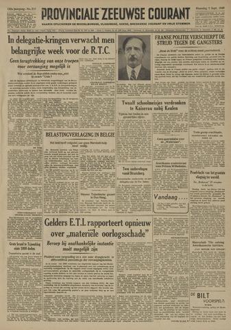 Provinciale Zeeuwse Courant 1949-09-05
