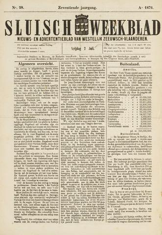 Sluisch Weekblad. Nieuws- en advertentieblad voor Westelijk Zeeuwsch-Vlaanderen 1876-07-07