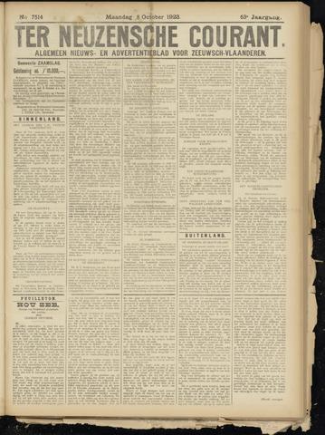 Ter Neuzensche Courant. Algemeen Nieuws- en Advertentieblad voor Zeeuwsch-Vlaanderen / Neuzensche Courant ... (idem) / (Algemeen) nieuws en advertentieblad voor Zeeuwsch-Vlaanderen 1923-10-08