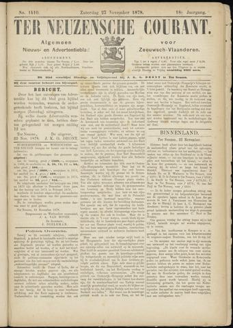 Ter Neuzensche Courant. Algemeen Nieuws- en Advertentieblad voor Zeeuwsch-Vlaanderen / Neuzensche Courant ... (idem) / (Algemeen) nieuws en advertentieblad voor Zeeuwsch-Vlaanderen 1878-11-23