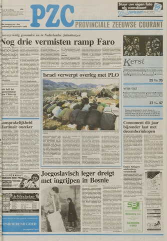 Provinciale Zeeuwse Courant 1992-12-24