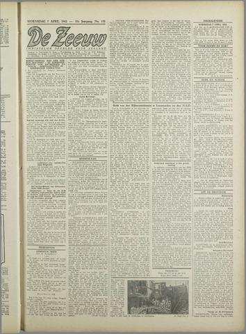 De Zeeuw. Christelijk-historisch nieuwsblad voor Zeeland 1943-04-07