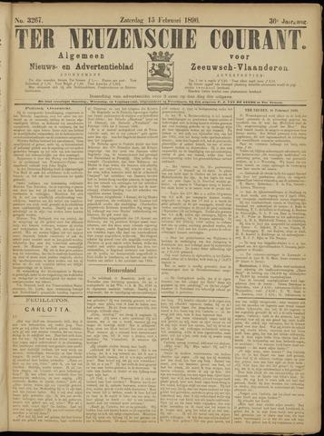 Ter Neuzensche Courant. Algemeen Nieuws- en Advertentieblad voor Zeeuwsch-Vlaanderen / Neuzensche Courant ... (idem) / (Algemeen) nieuws en advertentieblad voor Zeeuwsch-Vlaanderen 1896-02-15