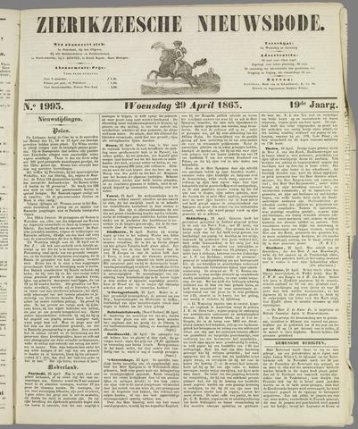 Zierikzeesche Nieuwsbode 1863-04-29