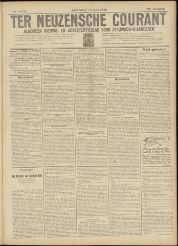 Ter Neuzensche Courant. Algemeen Nieuws- en Advertentieblad voor Zeeuwsch-Vlaanderen / Neuzensche Courant ... (idem) / (Algemeen) nieuws en advertentieblad voor Zeeuwsch-Vlaanderen 1936-07-13
