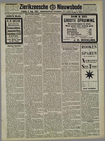 Zierikzeesche Nieuwsbode 1921-08-05