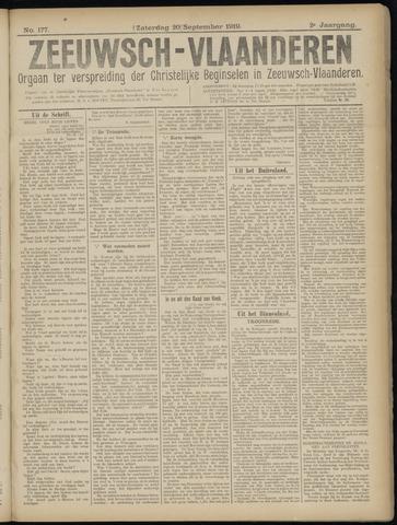 Luctor et Emergo. Antirevolutionair nieuws- en advertentieblad voor Zeeland / Zeeuwsch-Vlaanderen. Orgaan ter verspreiding van de christelijke beginselen in Zeeuwsch-Vlaanderen 1919-09-20
