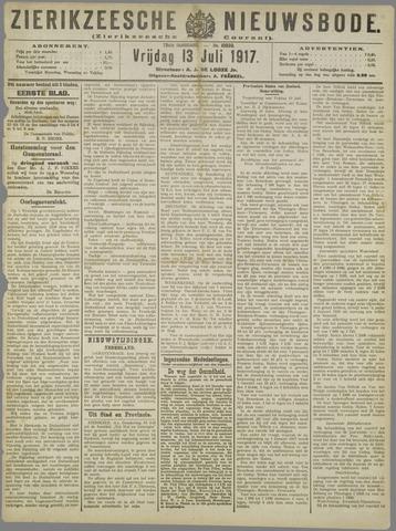 Zierikzeesche Nieuwsbode 1917-07-13