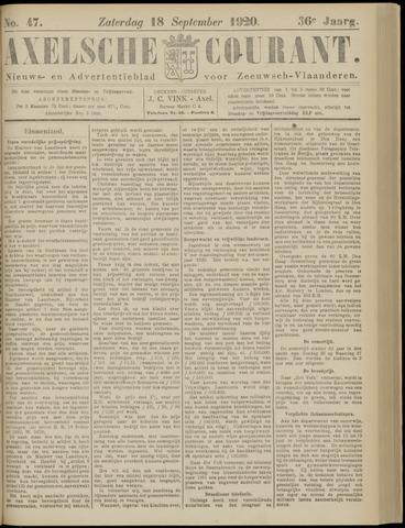Axelsche Courant 1920-09-18