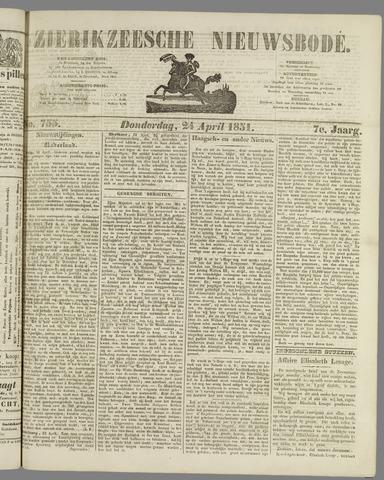 Zierikzeesche Nieuwsbode 1851-04-24
