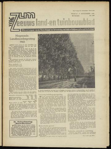 Zeeuwsch landbouwblad ... ZLM land- en tuinbouwblad 1964-09-25