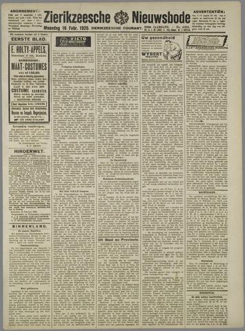 Zierikzeesche Nieuwsbode 1925-02-16