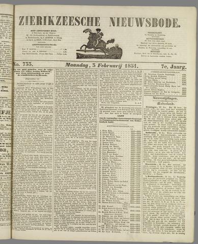 Zierikzeesche Nieuwsbode 1851-02-03
