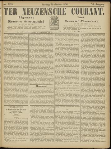 Ter Neuzensche Courant. Algemeen Nieuws- en Advertentieblad voor Zeeuwsch-Vlaanderen / Neuzensche Courant ... (idem) / (Algemeen) nieuws en advertentieblad voor Zeeuwsch-Vlaanderen 1886-10-30