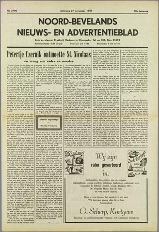 Noord-Bevelands Nieuws- en advertentieblad 1954-11-27