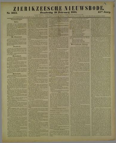 Zierikzeesche Nieuwsbode 1889-02-28