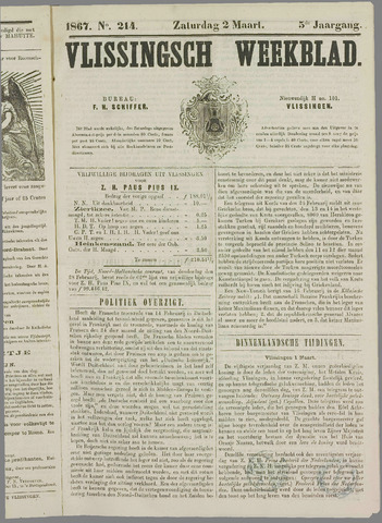 Vlissings Weekblad 1867-03-02