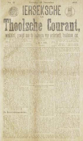 Ierseksche en Thoolsche Courant 1885-11-21