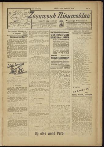 Zeeuwsch Nieuwsblad/Wegeling's Nieuwsblad 1936
