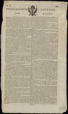 Middelburgsche Courant 1814-11-05