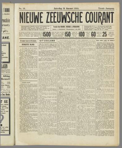 Nieuwe Zeeuwsche Courant 1914-01-31