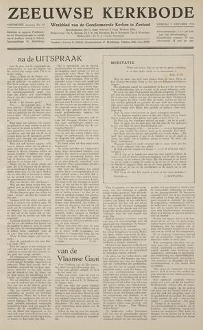 Zeeuwsche kerkbode, weekblad gewijd aan de belangen der gereformeerde kerken/ Zeeuwsch kerkblad 1959-10-09