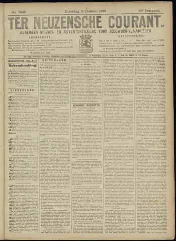 Ter Neuzensche Courant. Algemeen Nieuws- en Advertentieblad voor Zeeuwsch-Vlaanderen / Neuzensche Courant ... (idem) / (Algemeen) nieuws en advertentieblad voor Zeeuwsch-Vlaanderen 1920-01-31