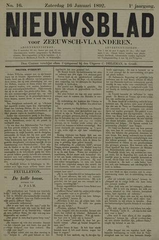 Nieuwsblad voor Zeeuwsch-Vlaanderen 1892-01-16