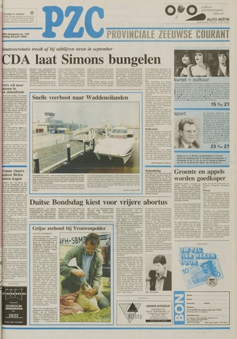 Provinciale Zeeuwse Courant 1992-06-26