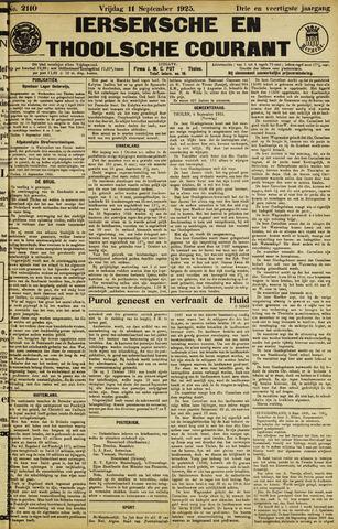 Ierseksche en Thoolsche Courant 1925-09-11