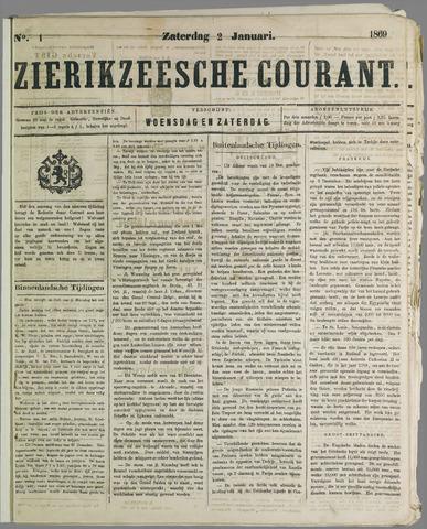 Zierikzeesche Courant 1869