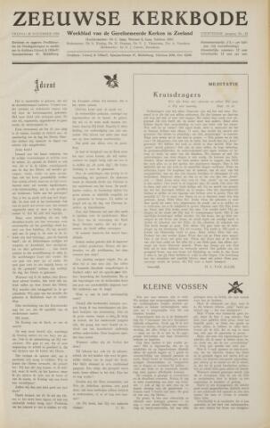 Zeeuwsche kerkbode, weekblad gewijd aan de belangen der gereformeerde kerken/ Zeeuwsch kerkblad 1958-11-28