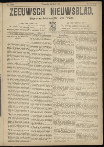 Ter Neuzensch Volksblad. Vrijzinnig nieuws- en advertentieblad voor Zeeuwsch- Vlaanderen / Zeeuwsch Nieuwsblad. Nieuws- en advertentieblad voor Zeeland 1918-07-24