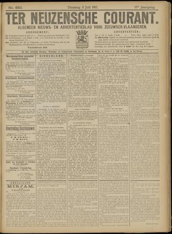 Ter Neuzensche Courant. Algemeen Nieuws- en Advertentieblad voor Zeeuwsch-Vlaanderen / Neuzensche Courant ... (idem) / (Algemeen) nieuws en advertentieblad voor Zeeuwsch-Vlaanderen 1917-07-03