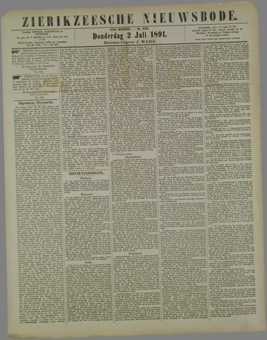 Zierikzeesche Nieuwsbode 1891-07-02