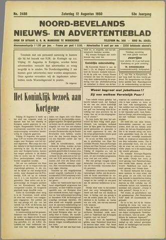 Noord-Bevelands Nieuws- en advertentieblad 1950-08-12