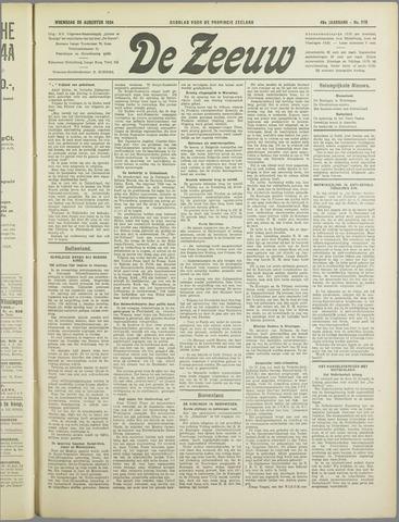 De Zeeuw. Christelijk-historisch nieuwsblad voor Zeeland 1934-08-29