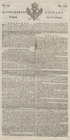 Middelburgsche Courant 1764-02-28