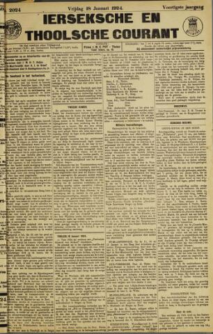 Ierseksche en Thoolsche Courant 1924-01-18