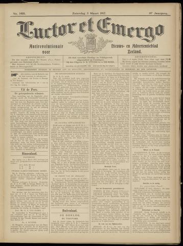 Luctor et Emergo. Antirevolutionair nieuws- en advertentieblad voor Zeeland / Zeeuwsch-Vlaanderen. Orgaan ter verspreiding van de christelijke beginselen in Zeeuwsch-Vlaanderen 1917-03-03