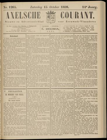 Axelsche Courant 1898-10-15