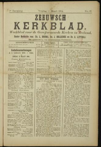 Zeeuwsche kerkbode, weekblad gewijd aan de belangen der gereformeerde kerken/ Zeeuwsch kerkblad 1904-03-11