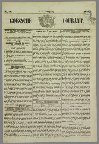 Goessche Courant 1854-10-05