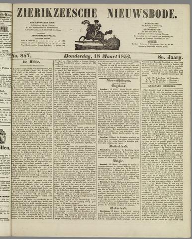 Zierikzeesche Nieuwsbode 1852-03-18