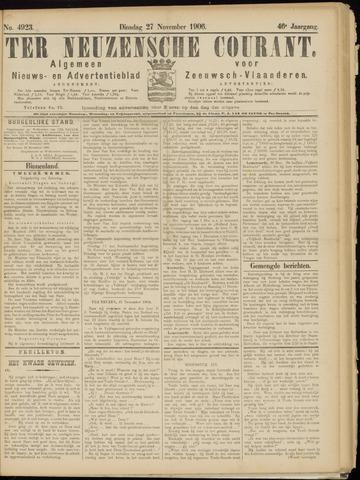 Ter Neuzensche Courant. Algemeen Nieuws- en Advertentieblad voor Zeeuwsch-Vlaanderen / Neuzensche Courant ... (idem) / (Algemeen) nieuws en advertentieblad voor Zeeuwsch-Vlaanderen 1906-11-27