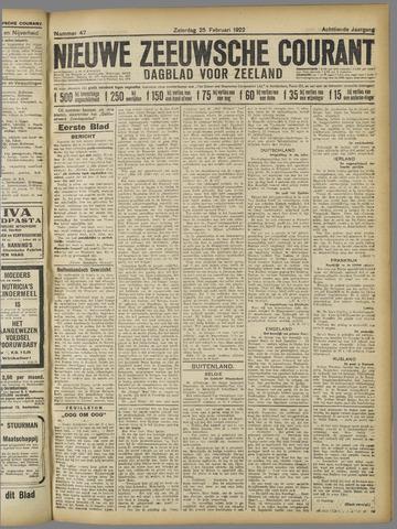 Nieuwe Zeeuwsche Courant 1922-02-25