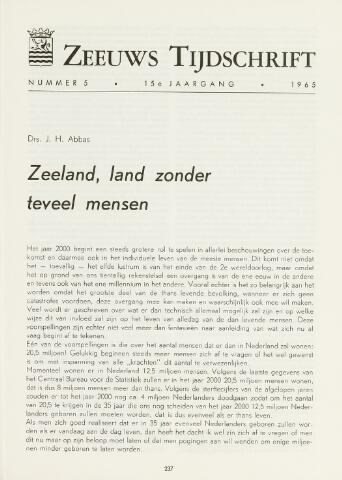 Zeeuws Tijdschrift 1965-09-01