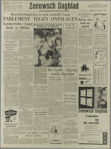 Zeeuwsch Dagblad 1960-09-08