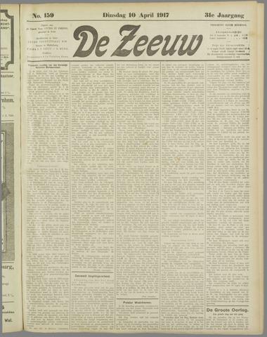 De Zeeuw. Christelijk-historisch nieuwsblad voor Zeeland 1917-04-10